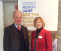 Peter Lilley MP with Sheelagh Taylor, CEO of Crossroads Care.