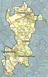 Hitchen and Harpenden Constituency Boundary