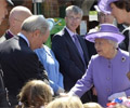 The Queen with Peter Lilley MP